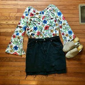 H&M Skirts - Black jean denim skirt
